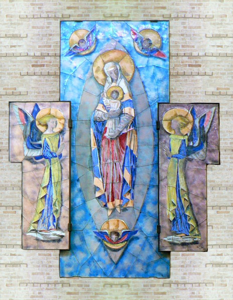 Pala della Madonna (Pino Cesarini, pittore - Paolo de Poli, smal