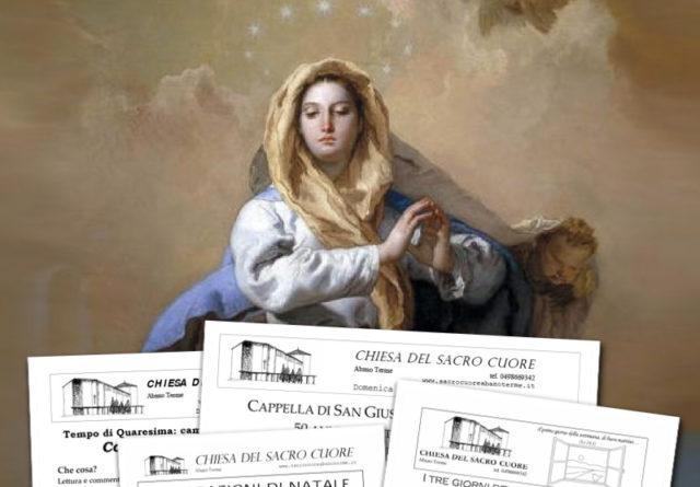 """Bollettino parrocchiale """"Immacolata Concezione"""" e """"Quarantore"""" 2016"""