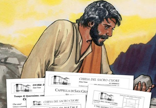 """Bollettino parrocchiale """"1. Domenica di Quaresima"""""""