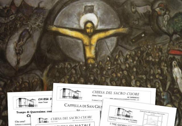 """Bollettino parrocchiale """"Domenica delle Palme e Via Crucis"""""""