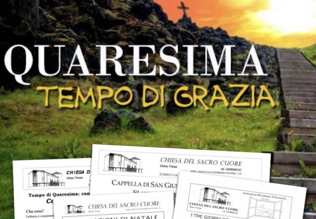 Bollettino parrocchiale – Quaresima 2018